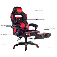 Office Chairs Amazon Com Merax Racing Office Chair Red And Black Pu Leather