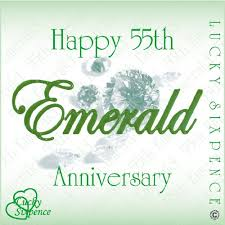 lucky sixpence for 55th wedding anniversary emerald co