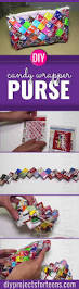 ridiculously cute diy candy wrapper purse diy projects for teens