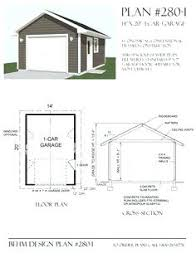 One Car Garage Apartment Plans Flat Roof Garage Plans U2013 Moonfest Us