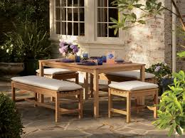 Patio Furniture Louisville Backless Bench Dining Set On Patio Traditional Patio