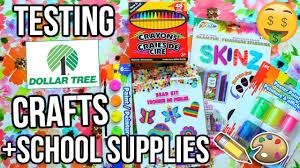 testing dollar tree school supplies craft supplies cheap school