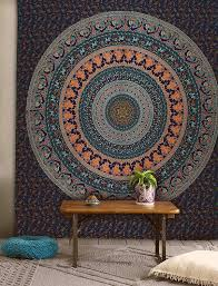 amazon com popular twin hippie indian tapestry elephant mandala amazon com popular twin hippie indian tapestry elephant mandala throw wall hanging gypsy bedspread by popular handicrafts home kitchen