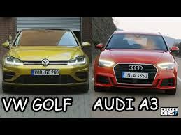 vw golf audi a3 2017 vw golf 7 r line vs audi a3 sportback s line 2016