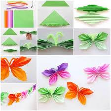 easy folded diy paper butterfly beesdiy