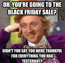 Black Friday Shopping Meme - internet jokers see the funny side of black friday daily mail online