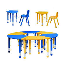 kids study table and chair set for children study of nursery