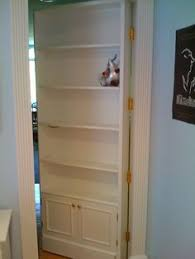 secret faux bookcase door secret and secure spaces pinterest