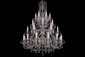 Coloured Chandelier by A Thirty Arm Colourless Crystal Chandelier With Silver Coloured