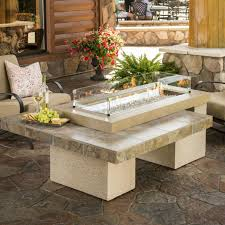 global outdoors fire table global outdoors gas fire table diy natural pit outdoor dining with