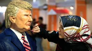 turkish chocolate festival features busts of trump merkel
