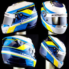 emma wigroth u0027s arai helmet painted white with pearl and glitter