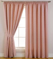 Valance And Drapes Decor Peach Polka Dot Bed Bath And Beyond Drapes For Window Decor
