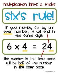 multiplication hints and tricks from mrs lane on http