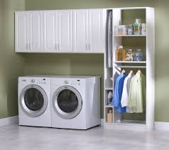 Laundry Room Storage Between Washer And Dryer Decoration Cool Laundry Room Ideas Washer Dryer Storage Wall