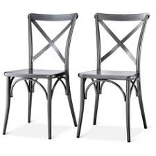 Grey Bistro Chairs Emery Metal Bistro Chair Set Of 2 Threshold Target Work