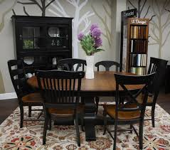 canadel dining room set spice u0026 black customdinepkg1