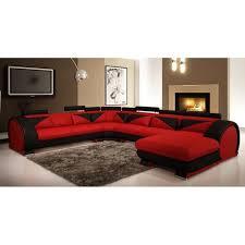 canap d angle noir cdiscount canapé d angle panoramique cuir et noir miam achat vente