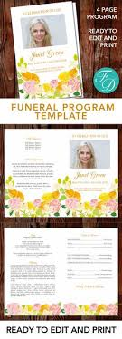 print funeral programs printable funeral program ready to edit print simply purchase