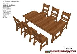 Wood Plans Outdoor Table by Home Garden Plans Ds100 Dining Table Set Plans Woodworking