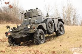 military jeep with gun paintball gun equipped daimler ferret