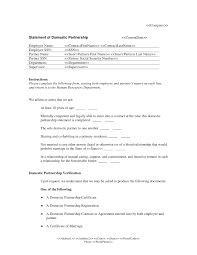 Sample Intent To Marry Letter by Of Domestic Partnership Form