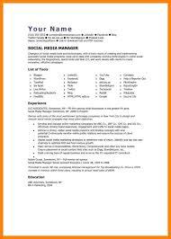 social media manager resume sample resume templates online