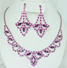 Chandelier Earrings Earrings Purple Necklace And Chandelier Earrings Set