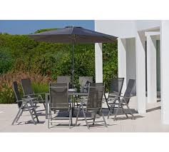 8 seat patio table buy collection malibu 8 seater metal patio set garden table and