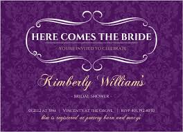 purple and gold wedding invitations royal purple and gold bridal shower invitation and showers