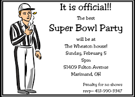 super bowl party invitations 2017 football