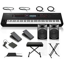 Keyboard Stand And Bench Yamaha Montage 8 88 Key Synthesizer With Powered Speakers Stand