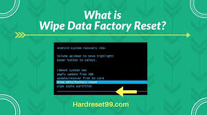 factory reset android wipe data factory reset android device