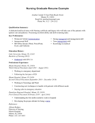 new grad resume nursing resume for study