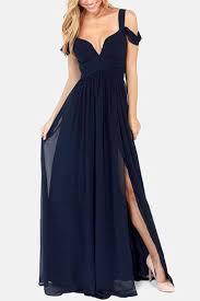 navy backless dress with cold shoulder design us 25 95 yoins