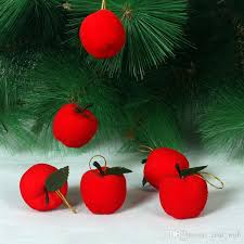 Cheap Christmas Tree Decorations Christmas Red Apples Christmas Tree Decorations Hanging Ornaments