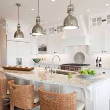 kitchen room luxury wooden kitchen bench island white granite