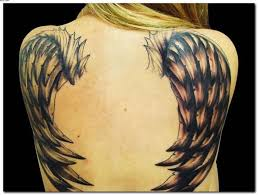 fabulous angel wings tattoo on back golfian com