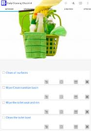 Clean Bedroom Checklist Daily House Cleaning Checklist Android Apps On Google Play