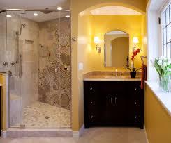decorative basement bathroom design using mosaic tiles accents new