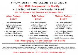wedding planner prices wedding prices studio