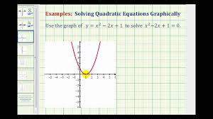 ex 1 solving quadratic equations graphically using x intercepts
