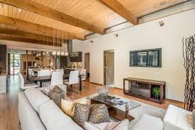 frank lloyd wright style home staging design by white orchid