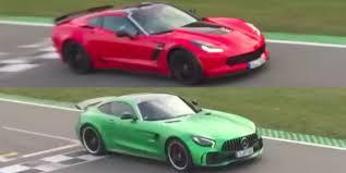 gtr or corvette mercedes amg gt r vs corvette z06 which is fastest on track