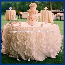 cheap table linens for sale cl010l cheap sale elegant polyester organza round ruffled curly