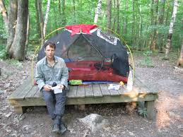 tent platform b u0026 m u0027s appalachian adventure mt greylock ma to manchester vt