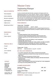 engineering manager resume sample template example managerial