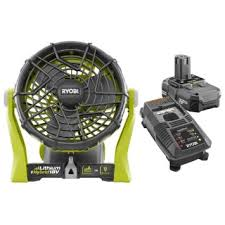ryobi fan and battery buy factory reconditioned ryobi p3320 18 volt one plus hybrid fan