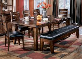 rectangular dining room tables ashley d442 45 01 09 larchmont 6 piece rectangular dining room