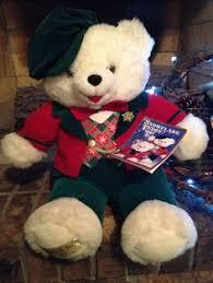 stuffed teddy bears walmart com dan dee bear christmas 2000 snowflake teddy white plush red